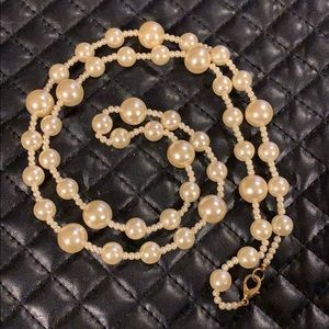 Torrid Faux Pearl Beaded Long Necklace